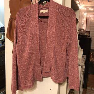 Loft Pink Knit Cardigan